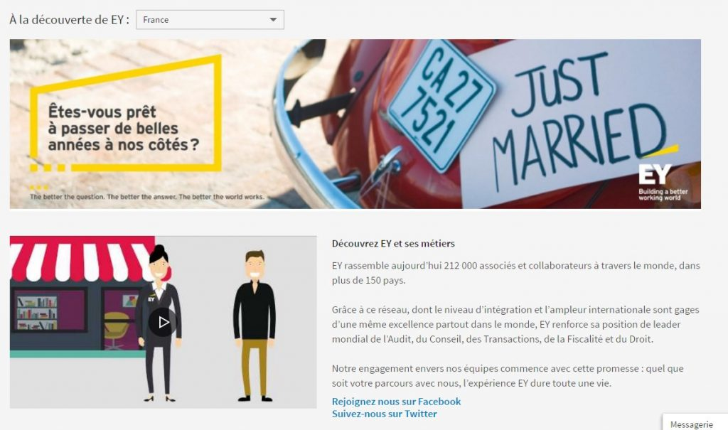 Page Linkedin ernst&Young