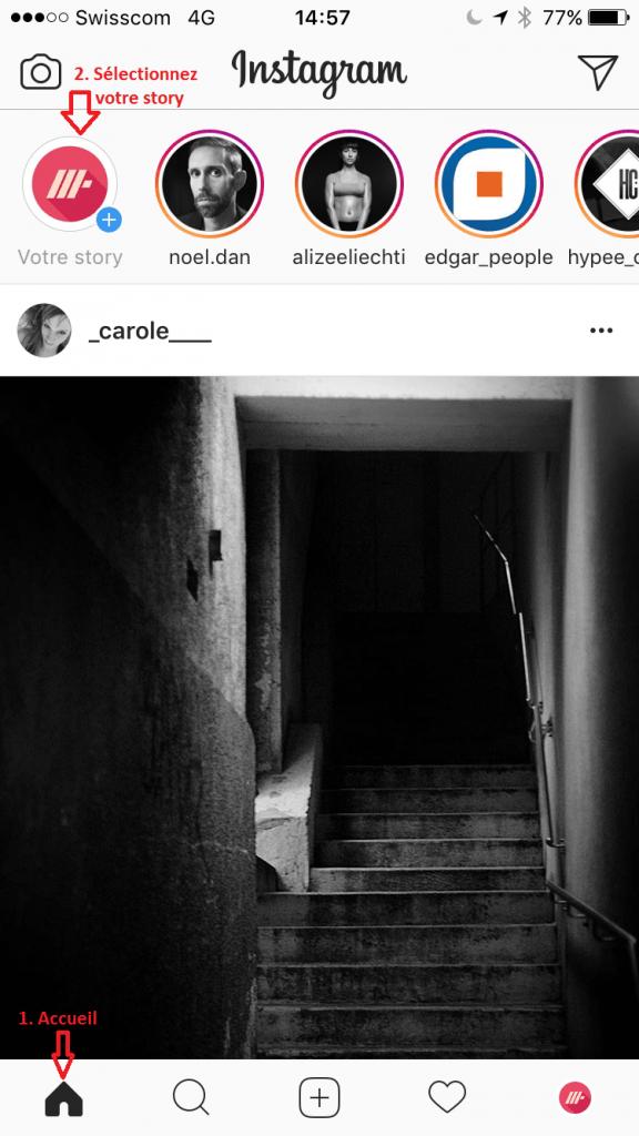 Instagram Comment créer vos stories